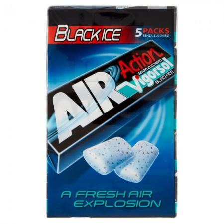Жевательная резинка с лакрицей Perfetti Van Melle Vigorsol Action Black Ice, 65 г