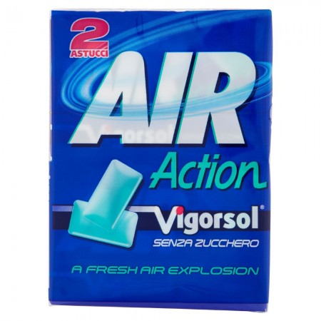 Жевательная резинка с лакрицей Perfetti Van Melle Air Action Chewing Gum, 58 г